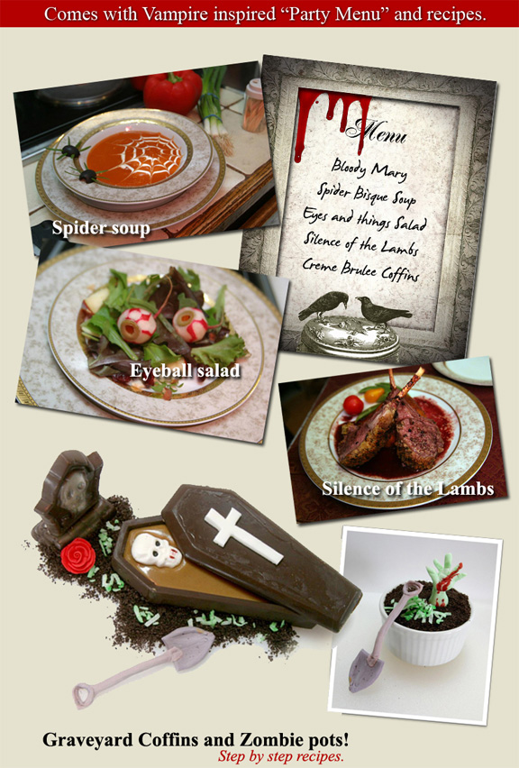 Mystery Dinner Party Menu Ideas Part - 40: Add To Cart INSTANT DOWNLOAD: Vampire Murder Mystery Dinner Party ...