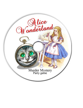 Details about ALICE IN WONDERLAND MURDER MYSTERY DINNER PARTY GAME